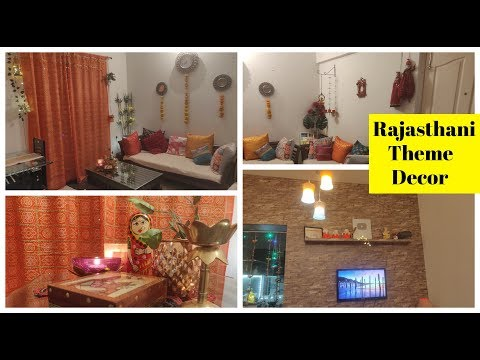 My small Living Room Decor for Diwali - Colourful Rajasthani Theme (Affordable)
