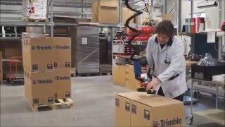 Sistema de elevación con aire comprimido para manipular cajas