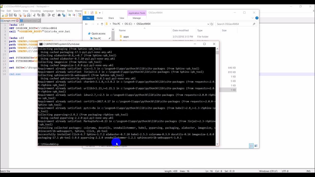 Environment Setup for Plugin Development with QGIS 3