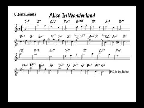 Alice in wonderland  Play along  C version