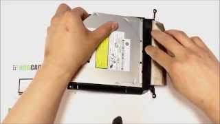 How to replace dvd-drive (in bracket) with HDD Caddy for iMac