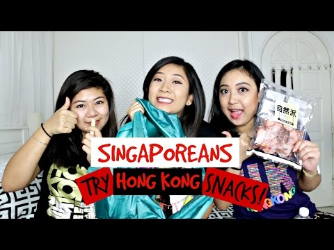 Singaporeans Try Hong Kong Snacks | dygans90