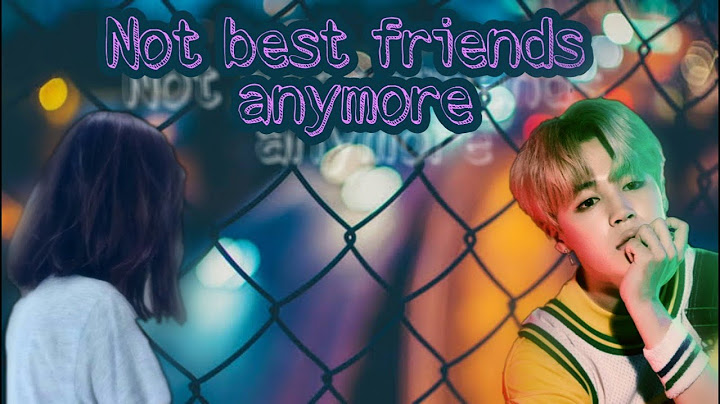 jimin ff  not best friends anymore  one shot