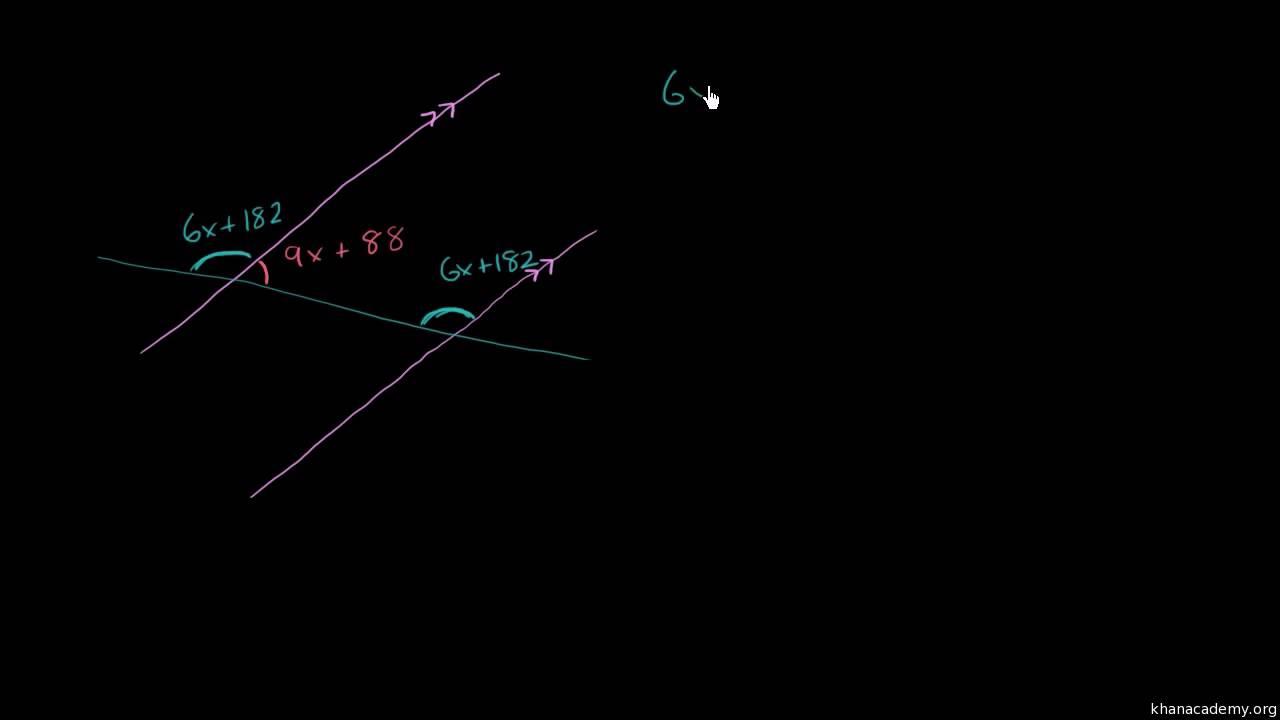 Brug af algebra til at finde vinkler dannet af transversal