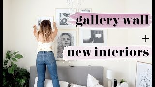 HOW TO CREATE A GALLERY  WALL + NEW INTERIOR PIECES! Sophie Milner // fashion slave