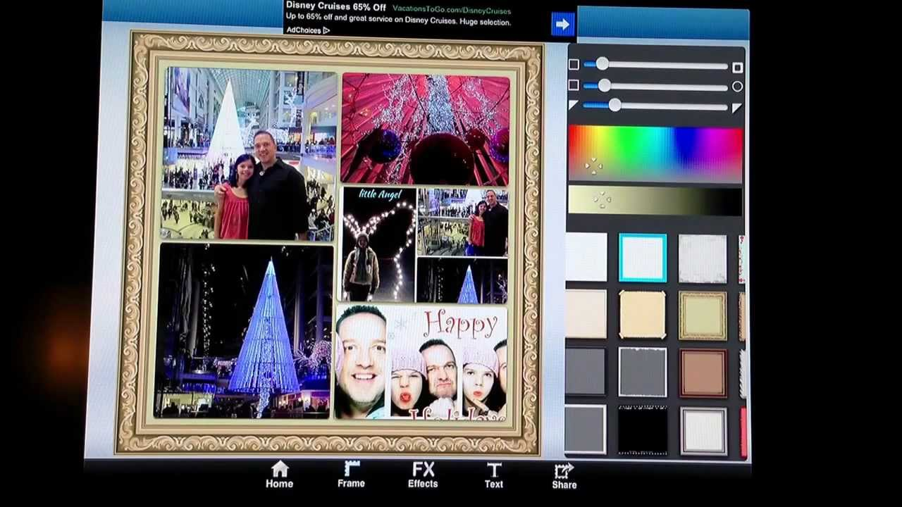 How To Use Ipad Photo Collage App Youtube