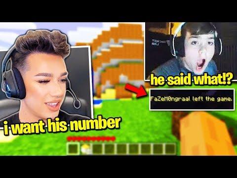 JAMES CHARLES *FLIRTS* w/ FaZe MONGRAAL on Minecraft! (CALLS HIM CUTE!) thumbnail