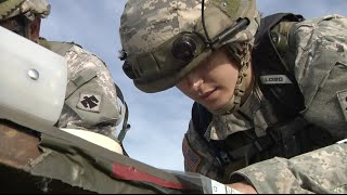An Oklahoma first: First qualified female combat arms officer conducts fire missions