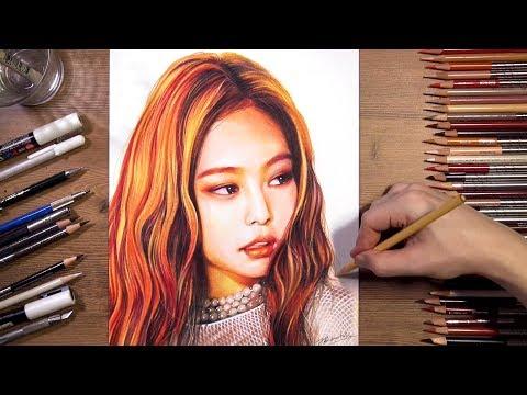 BLACKPINK : Jennie - Speed Drawing | Drawholic