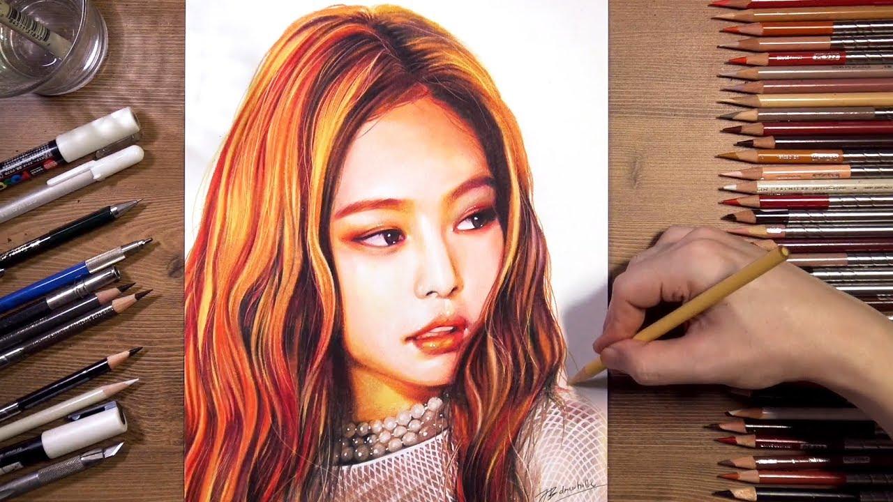 BLACKPINK Jennie Speed Drawing Drawholic YouTube