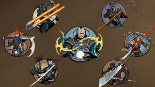 Shadow Fight 2    All Challenger's Weapon vs TITAN Bodyguards 「Android Gameplay」