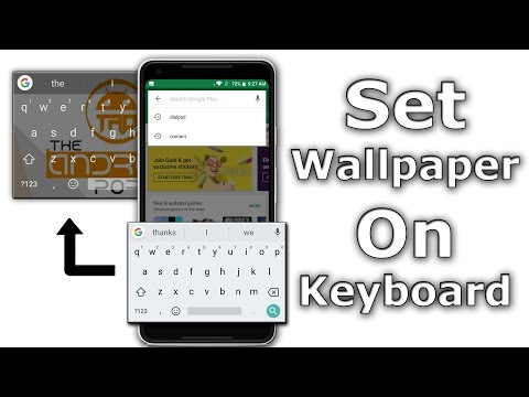 How To Change Android Keyboard Background Wallpaper Youtube