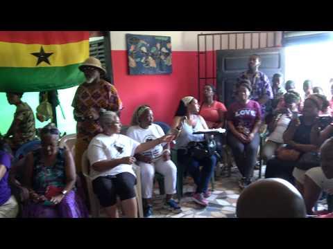 Drumming & Dancing at Akoma Academy for Ghana Tour Group Nov 2017