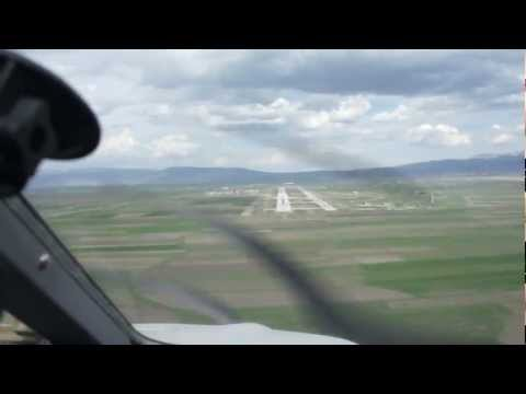 Final Approach to Erzurum Airport(LTCE),Runway 08 L,  Eastern Turkey, Elevation 5761 Ft,