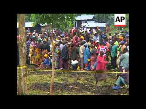 ICRC food distribution near Goma as fighting continues