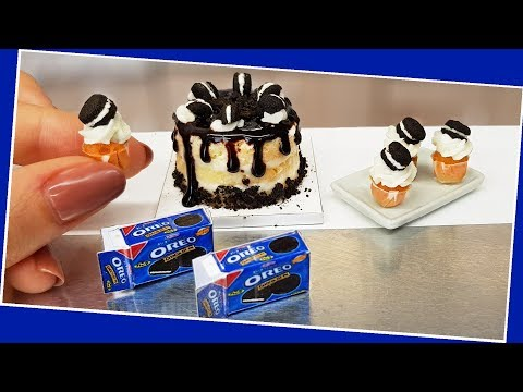 Real, mini OREO cake & cupcakes ? /Jenny's mini cooking / diy / how to / Oreo love / mini food tiny