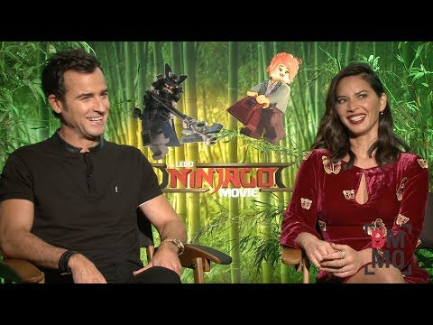 Justin Theroux & Olivia Munn Interview - The LEGO Ninjago Movie