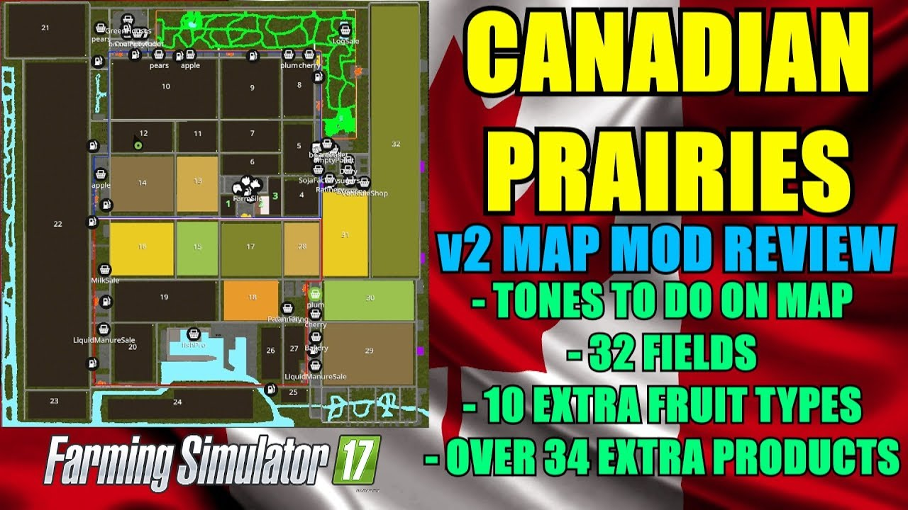 FS17 Canadian Prairies v2 Map Map Mod Review YouTube