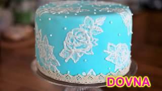 Супер быстрый способ украшения торта покрытого мастикой от  Dovna Enterprases