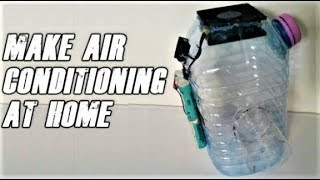 How to make air conditioning from plastic bottle and a fan