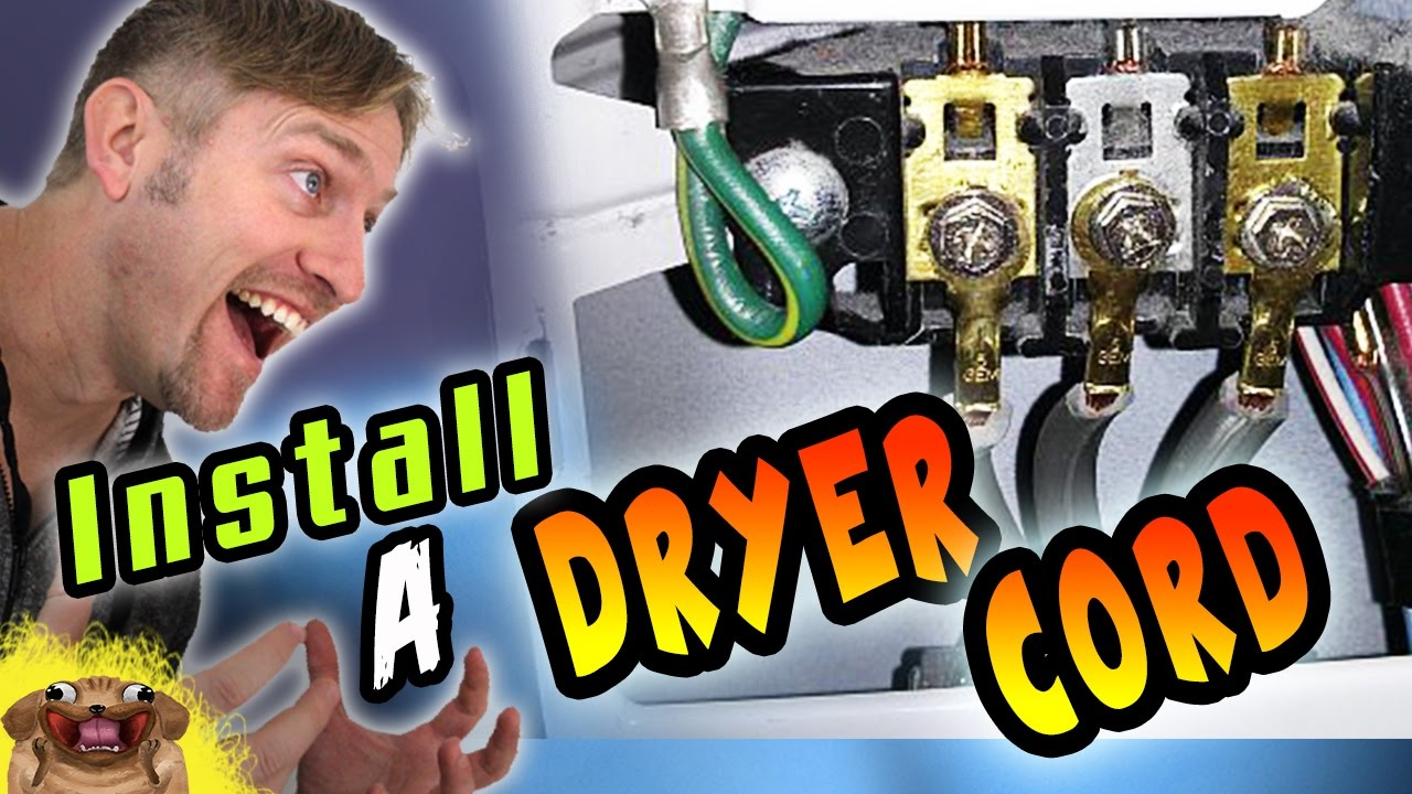 How To Install A 3 Prong Dryer Cord And 4 Youtube Four Wire Plug Diagram