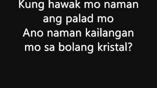 Repeat youtube video ABRA FT. KZ TANDINGAN - BOLANG KRISTAL ( LYRICS )