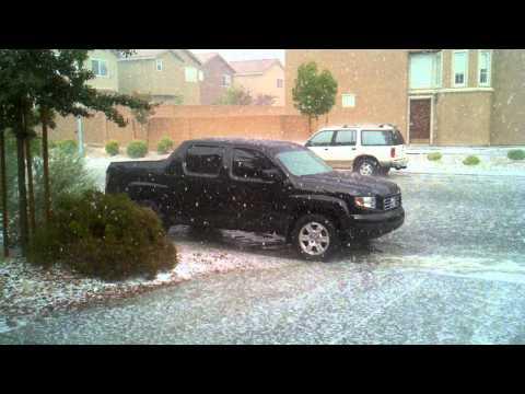 Las Vegas summer hail storm