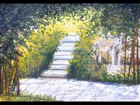 Stairway to heaven – Oil Pastel Painting Lesson, using Mungyo Gallery Artists' Soft Oil Pastels