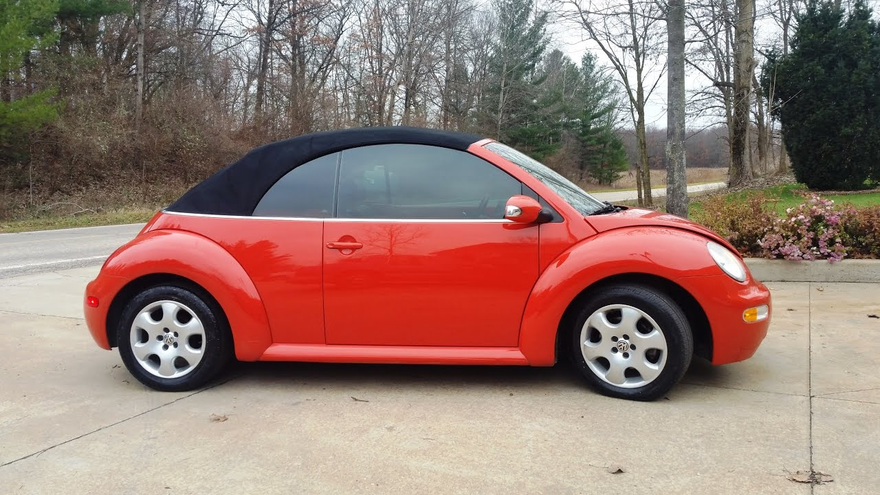 VW 2003 vw bug : SWEET LOW MILE NO ACCIDENT 2003 VW BEETLE GLS CONVERTIBLE - YouTube