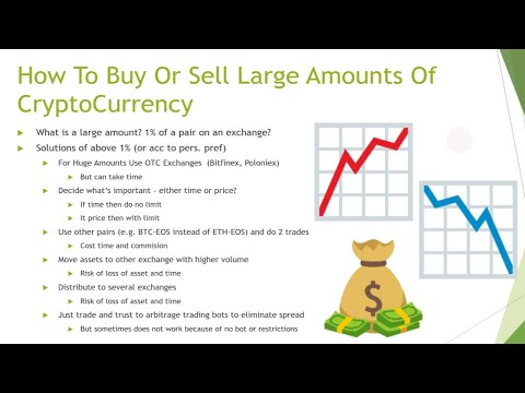 How To Buy Or Sell Large Amounts Of CryptoCurrency (e.g. Bitcoin, Ethereum,  EOS, XRP, Litecoin)?