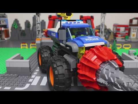 LEGO Cars and Trucks Experemental police car Video for Kids