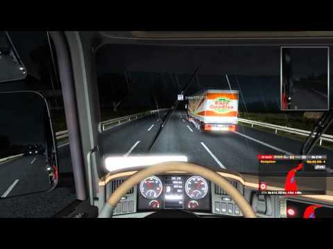 Euro Truck SImulator 2 online [001] / Auffahrunfälle / Youtuber Speditions Konvoi