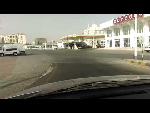 Sultan Qaboos main road Muscat car camera view