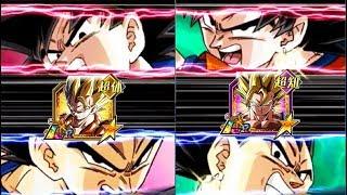 BOTH LR TRANSFORMATIONS AT THE SAMETIME!! LR GOGETA & LR VEGITO!! DBZ: Dokkan Battle!