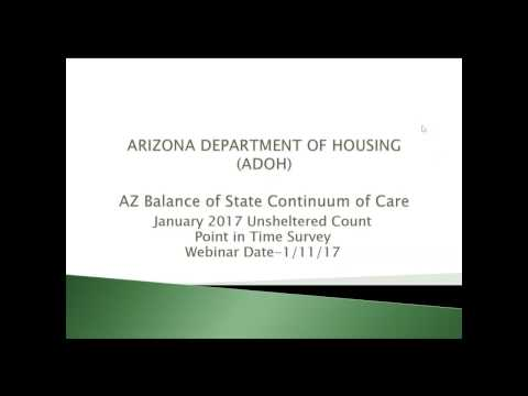 Arizona Department of Housing - 2017 PIT Count