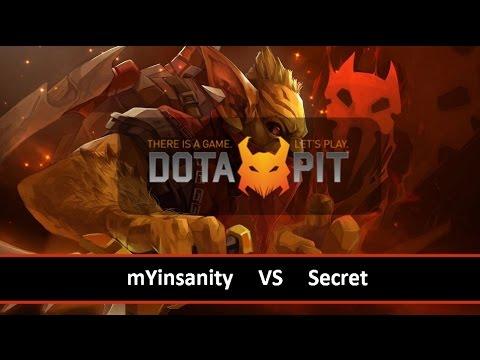 [ Dota2 ] mYinsanity vs Secret - Dota Pit League Season 2 - Thai Caster