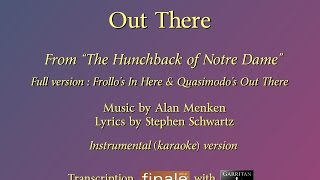 """Out There"" Full reconstruction version (The Hunchback of Notre Dame) / karaoke"