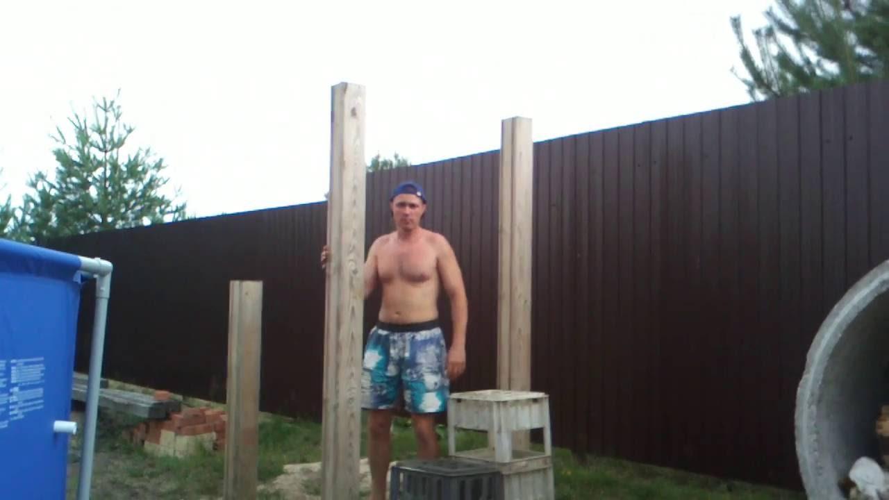 Как сделать брусья на даче 38