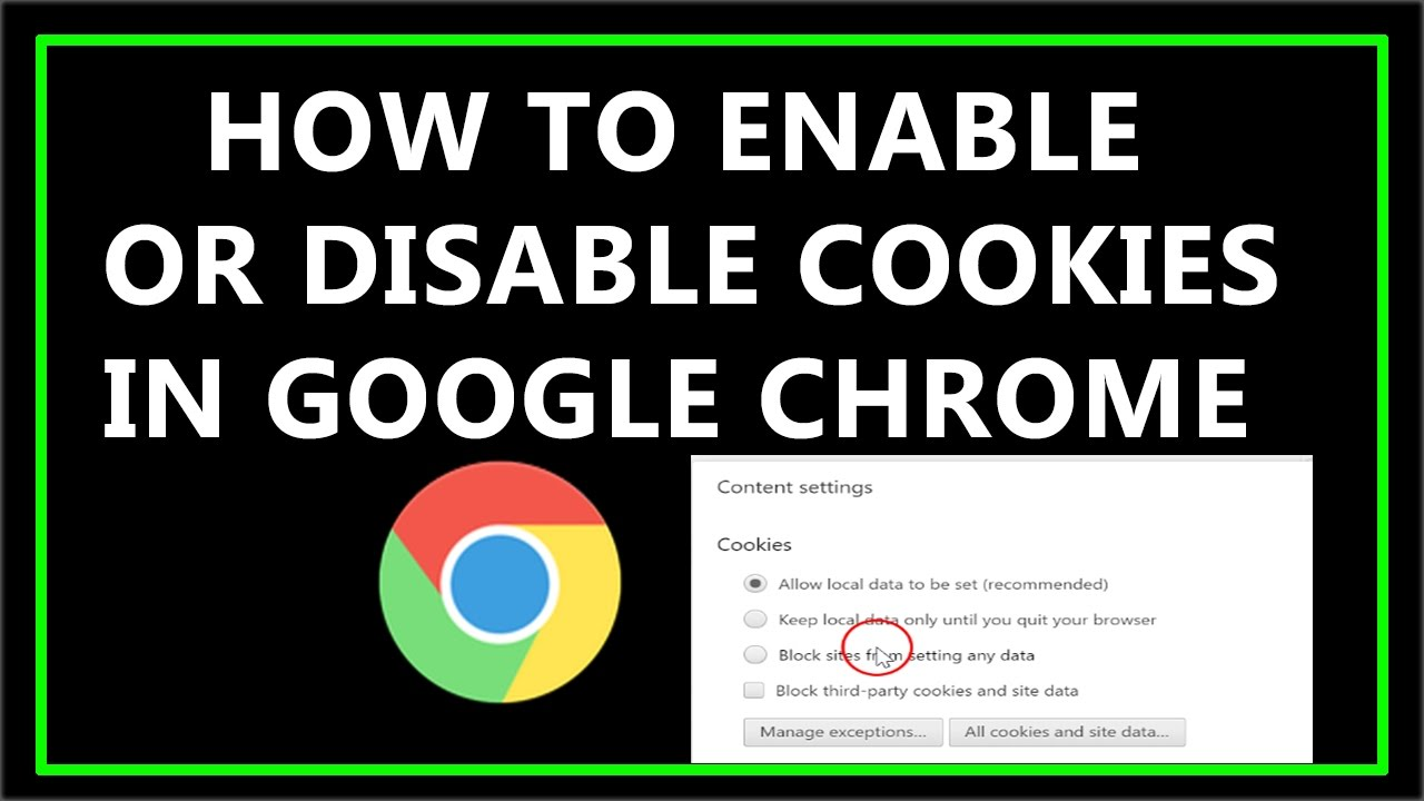 How To Enable Or Disable Cookies In Google Chrome ?