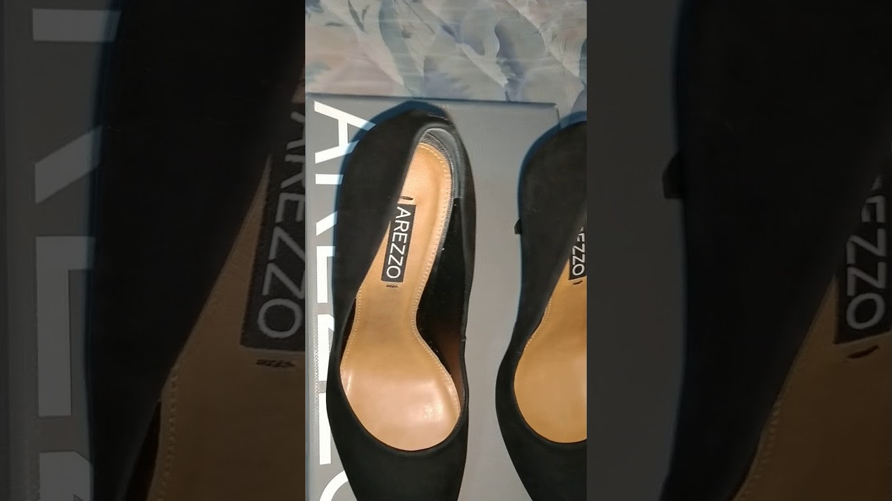 f1489e6f4 Sapato Feminino fechado Salto alto preto acamurcado Arezzo n°36 ...