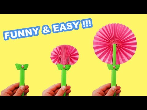 DIY FLOWER PAPER FAN THAT IS SO EASY TO MAKE