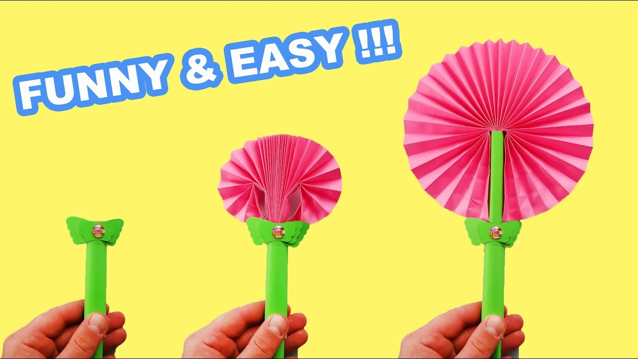 Download DIY FLOWER PAPER FAN THAT IS SO EASY TO MAKE