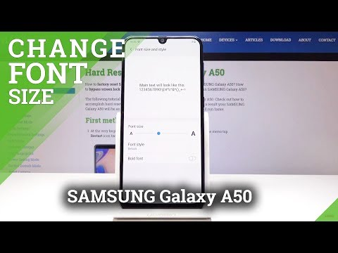 How To Change Font Size & Style In SAMSUNG Galaxy A50 - Maximize Font Text