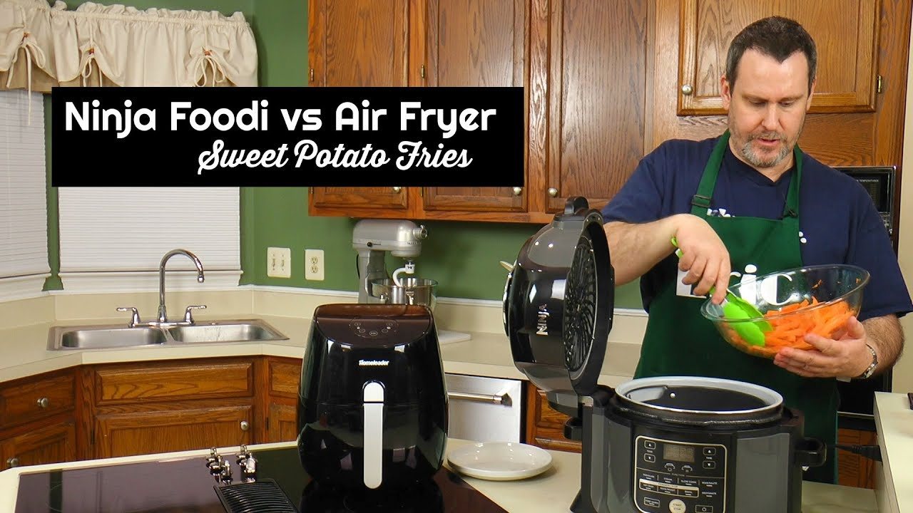 Ninja Foodi Vs Air Fryer Challenge Sweet Potato Fries Amy
