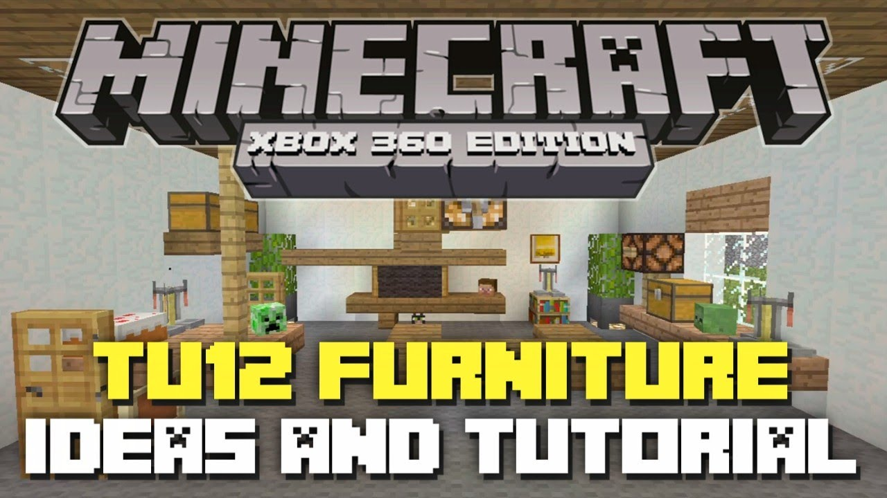 Minecraft Bedroom Ideas Xbox 360 minecraft xbox 360: tu12 furniture ideas and tutorial! (tu12 new