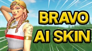 🔴 BRAVO AI SKIN IN FORTNITE! COME ON AND TRY TO WIN WITH THE BEST COMBO!