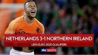 Dutch break Northern Ireland hearts | Netherlands 3-1 N Ireland | UEFA Euro 2020 Qualifiers