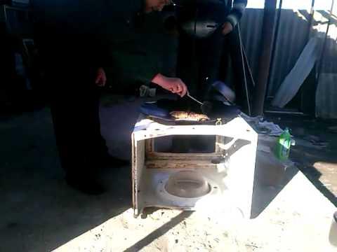 Жареная рыба на стиральной машине