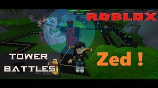New Tower Zed VS new Void ! Tower Battles Roblox