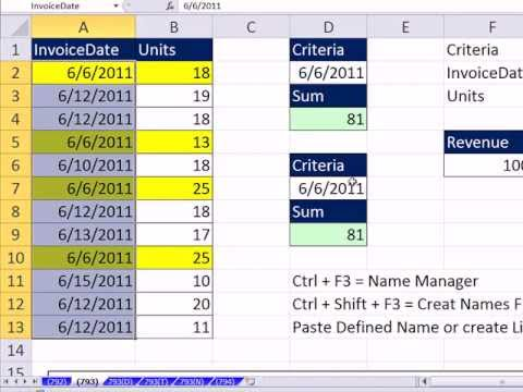 Excel Magic Trick 792: Defined Names In Formulas